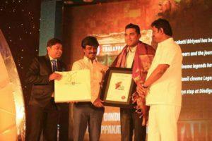 Won the Pride Of Tamilnadu award