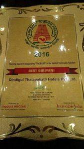 Tamilnadu Tourism Award