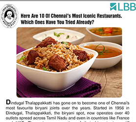 Chennai's Top 10 Most Iconic Restaurants