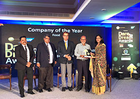 Zee Business Dare to Dream award for food industry given to DT
